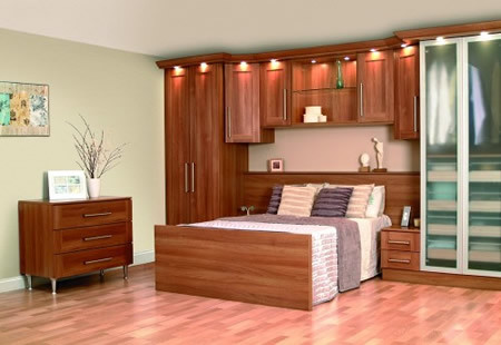 Sweet Ed Sliding Wardrobe Small His Hers Light Walnut B Bedrooms Wardrobes For