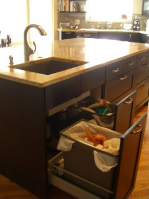 under kitchen sink garbage can drawers sink 8695