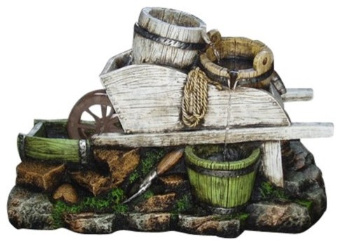 yosemite home decor tree stump fountain yosemite home decor wood trolley with water keg 13542