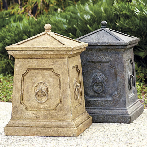 decorative outdoor garbage cans. With Lid Outdoor Trash Cans Recycling The Decorative Receptacles  Iron Blog
