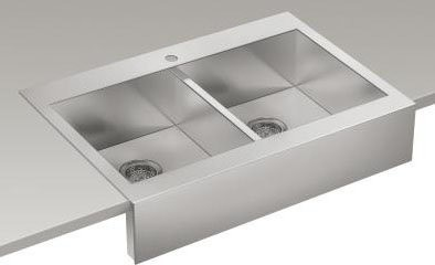 kitchen sink pictures kohler k 3944 1 na n a vault vault 36 quot basin top 2821