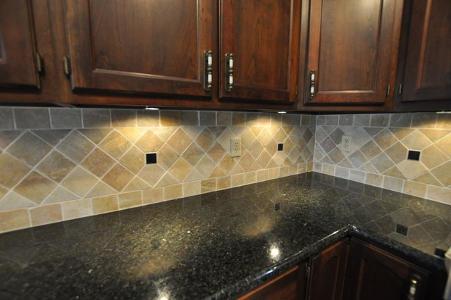 Granite Countertops and Tile Backsplash Ideas - Eclectic ... on Backsplash Ideas For Granite Countertops  id=36318