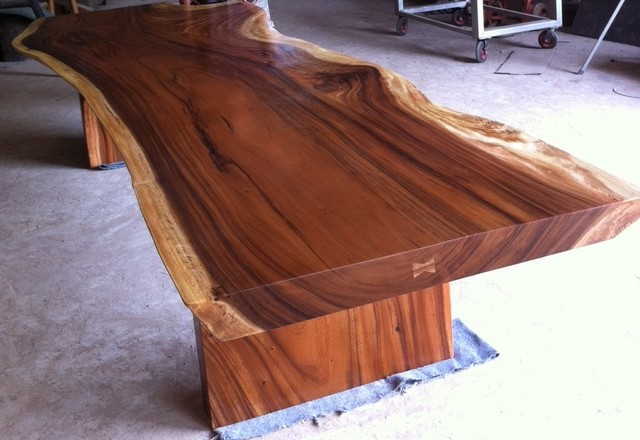 Slab Acacia Wood Table By Dining Or Conference Reclaimed Solid