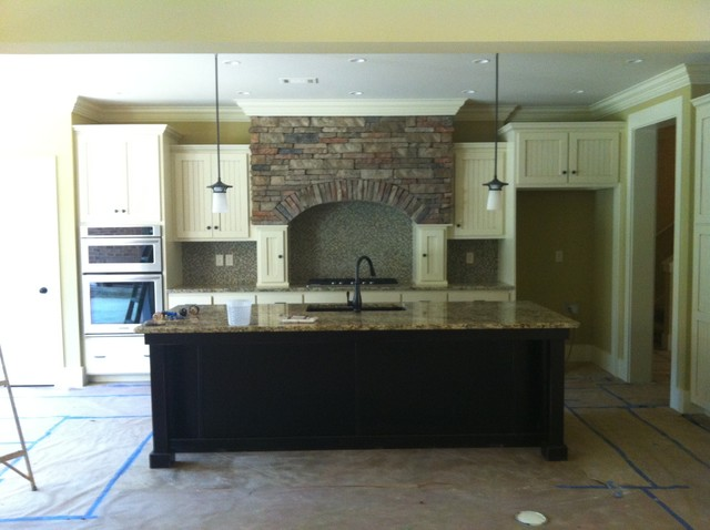 ... How To Paint Stained Kitchen Cabinets White