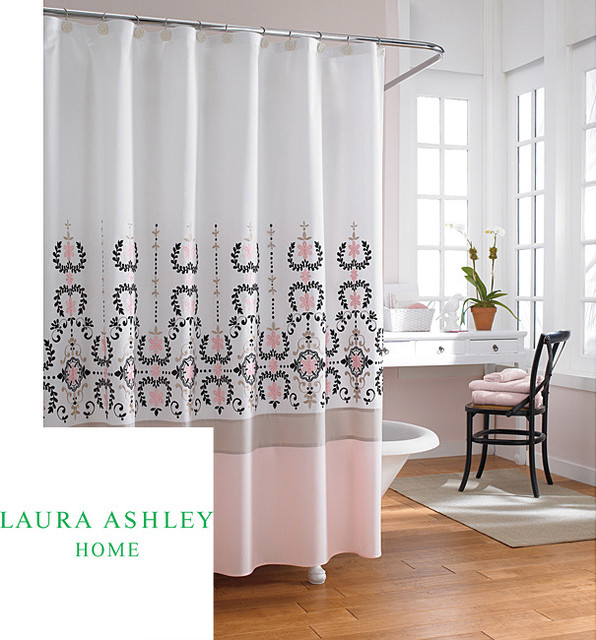 Grey And Pink Shower Curtain Avarii Org Home Design Best Ideas