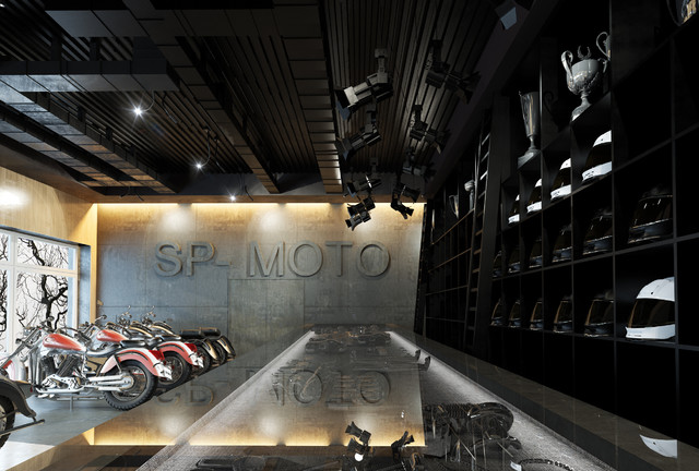 Motorcycle showroom