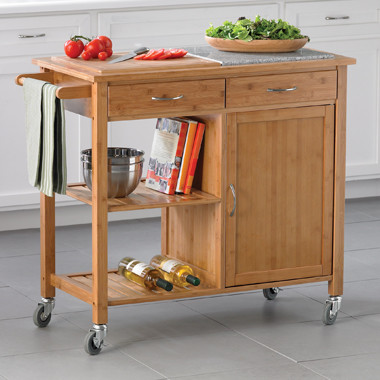 bamboo kitchen island bamboo kitchen island traditional kitchen islands and kitchen carts by bed bath beyond 4748