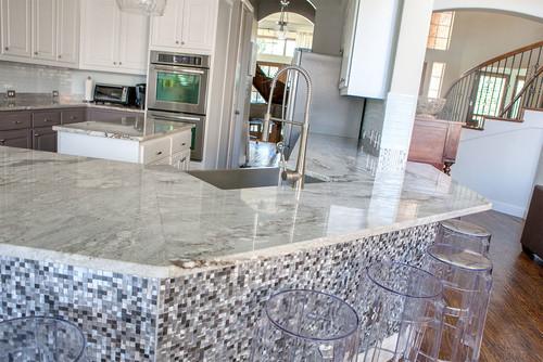 White Granite Countertops Backsplash