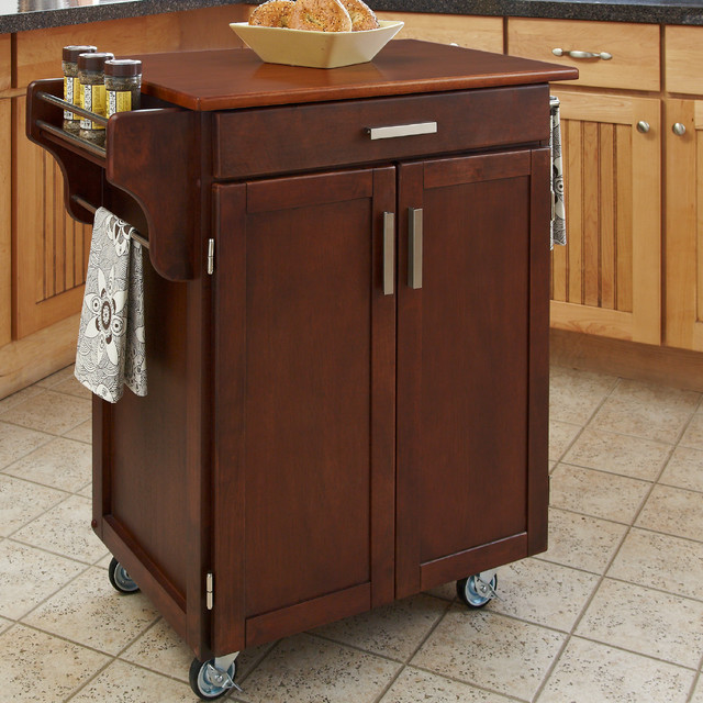cherry kitchen islands cherry finish oak top cuisine cart contemporary 10982