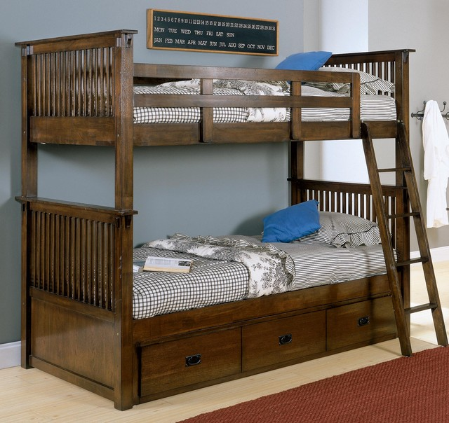 Twin Bunk Bed With Storage Under