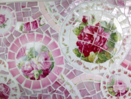 how to frame a bathroom mirror with mosaic tiles shabby cottage china mosaic tile magazine table 26491