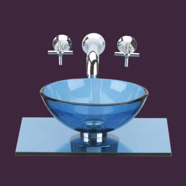 blue glass vessel sinks for bathrooms glass sinks blue glass sink counter mini vessel 10892 25168