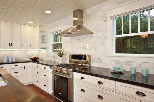 Freestanding Range Installed In Kitchen