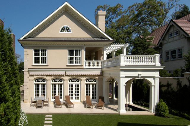Limestone Facade - Traditional - Exterior - other metro ... on Colao & Peter Luxury Outdoor Living id=99588