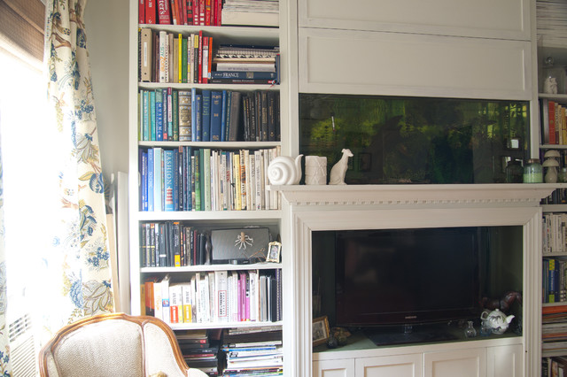 curtains in living room pictures bookshelves that display the fish tank and tv eclectic 21337