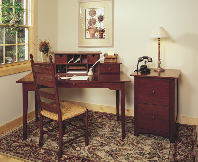 Shaker-style Cherry Office Furniture - Traditional - Home ...