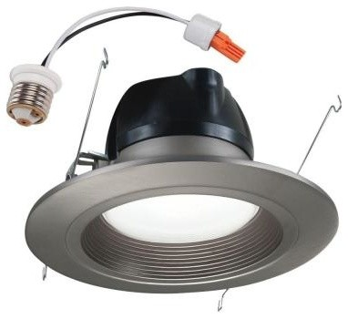bathroom lighting fixtures unbranded halo 6 in led retrofit recessed satin nickel 10904