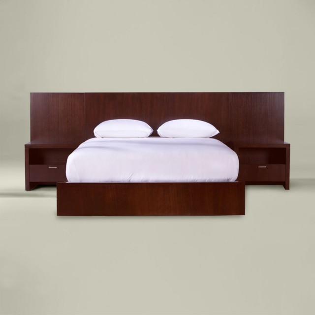 morgan queen bed with side panels modern beds by 15230 | modern beds