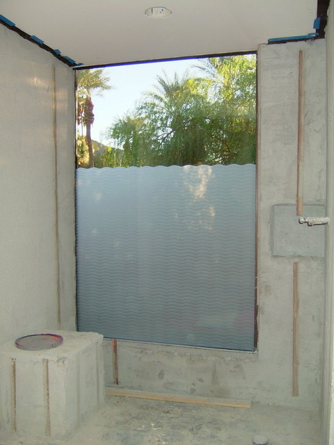 Bathroom Windows - WAVE PATTERN - Frosted Glass Designs ...