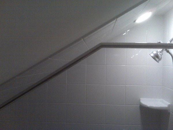 Sloped Ceiling Shower Rod Superb