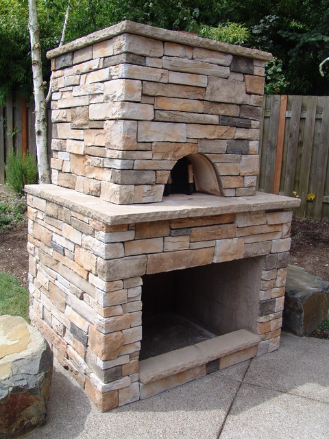 Pizza oven - Traditional - Patio - portland - by Brown ... on Outdoor Patio With Pizza Oven id=42366