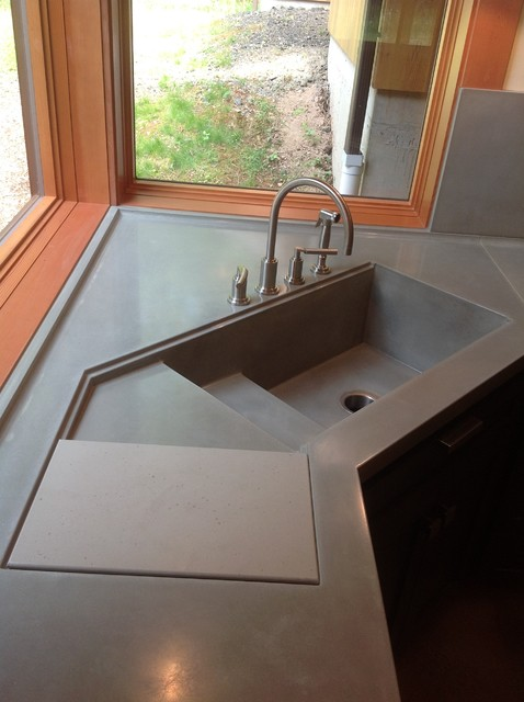 kitchen sinks seattle integral concrete kitchen sink contemporary kitchen 3052