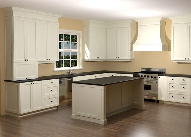 White Shaker Kitchen - Full Overlay