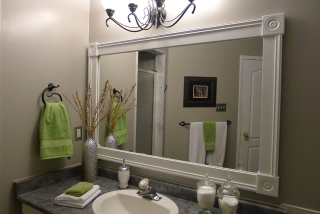 large framed mirror for bathroom bathroom vanity with custom mirror frame contemporary 23616