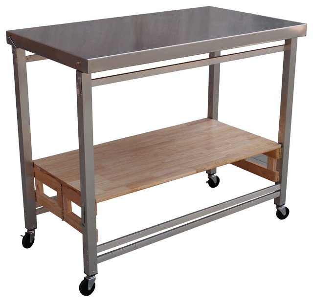 oasis island kitchen cart oasis concepts stainless steel folding kitchen island 21012