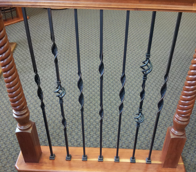 Ribbon Twisted Iron Balusters - Traditional - houston - by ...