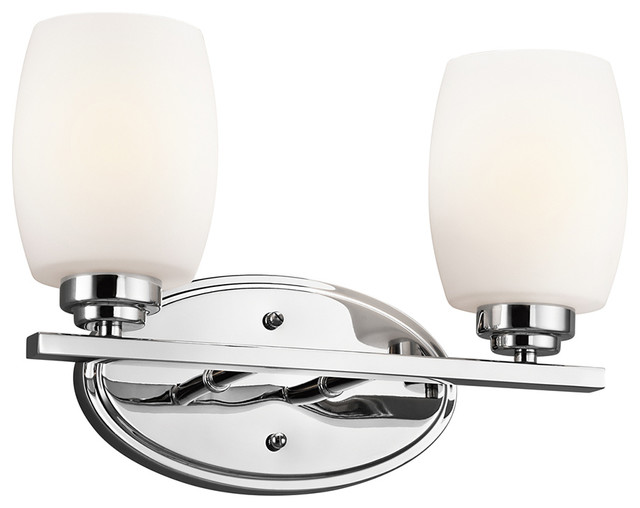 light and bathroom kichler 5097ch eileen 2 light chrome bath vanity 13440