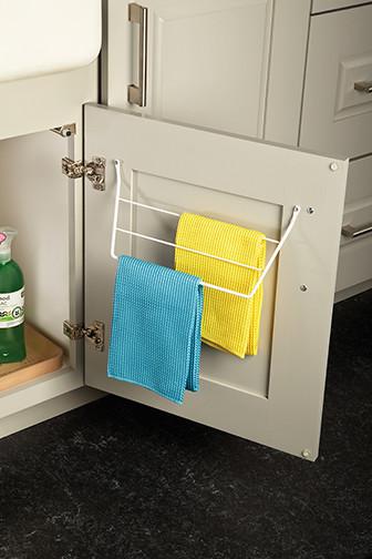 Sink Dish Towel Door Rack - Kitchen Drawer Organizers ...