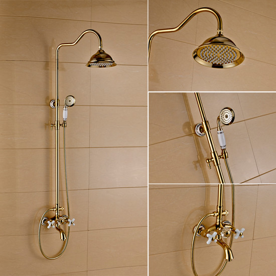 kitchen sinks faucets porcelain handles and shower gold tub shower faucet 13794