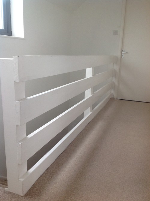 attic conversion room ideas - ugly cheap looking banister