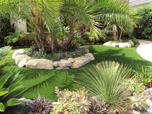 Front Yard Landscaping Tropical Ideas - Home Decorating Ideas on Tropical Backyard Landscaping  id=57069