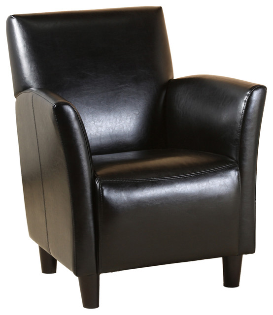 black leather occasional chair classic grand black leather arm chair contemporary 11215 | contemporary armchairs and accent chairs