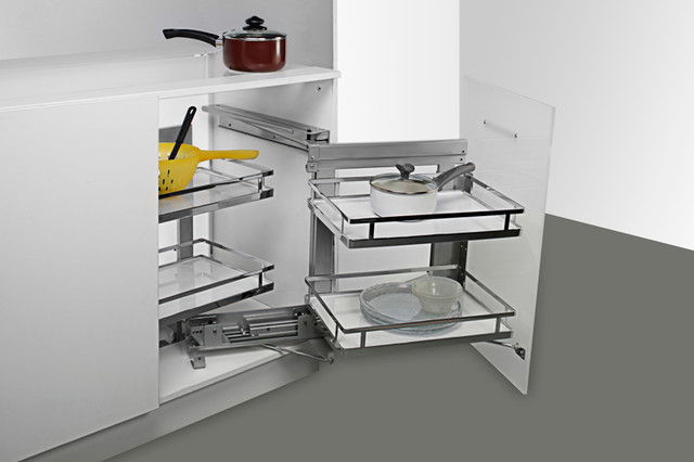 Pull Out Blind Corner Unit Contemporary Kitchen Cabinets Optimizer For 15 Quot Opening Chrome 5psp15 Cr