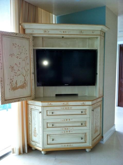 Custom Corner Entertainment Cabinet Traditional Dc Metro By Kiwi Carpentry