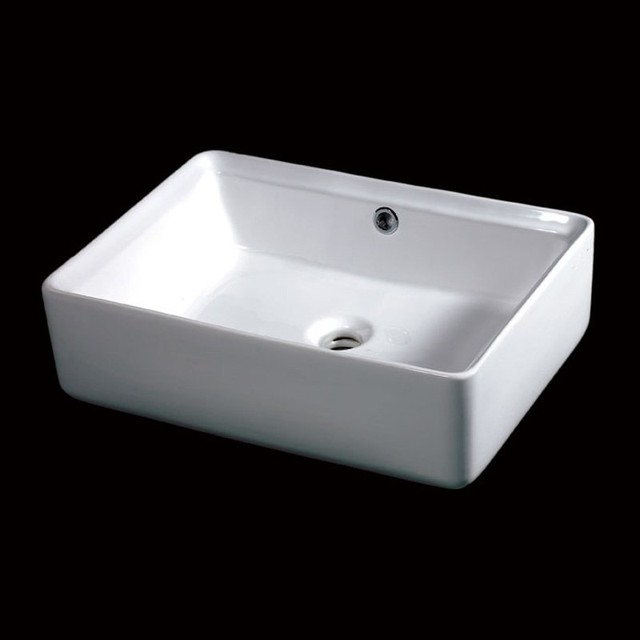 above mount bathroom sinks eago 20 in rectangular ceramic above mount vessel sink 15350