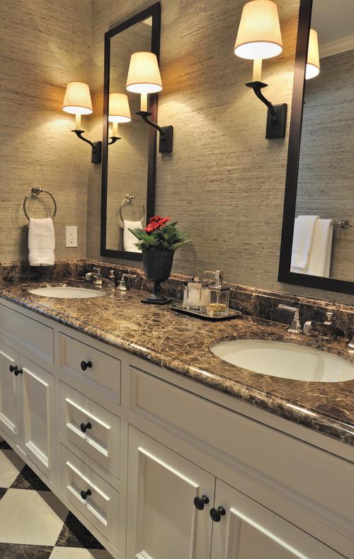 Emperador Dark Marble Bathroom Countertops Ideas on Bathroom Ideas With Black Granite Countertops  id=85213