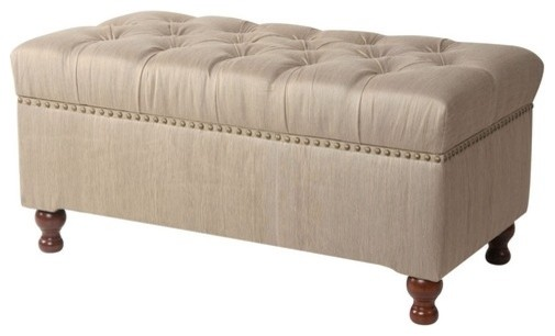 addison fabric bedroom storage ottoman modern 10688 | modern upholstered benches