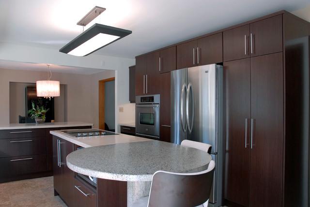 Echo Wood Slab Doors Kitchen Cabinetry - Modern - Kitchen ...