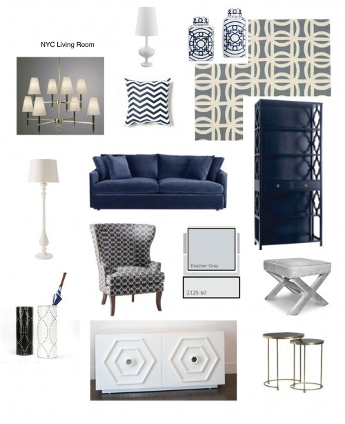 a design inspiration board helps you put rooms together
