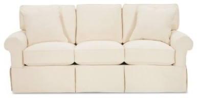 Rowe Nantucket Slipcovered Queen Sleeper Sofa Natural Modern Sofas by Hayneedle