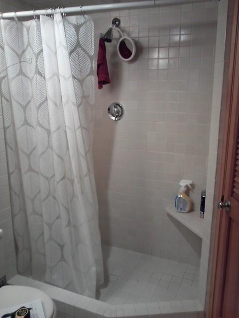 Tub Shower Curtain Vs Glass Doors - Curtain Ideas