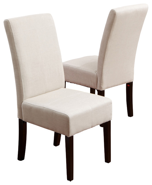 Emilia Fabric Dining Chair (Set of 2), Ivory ...