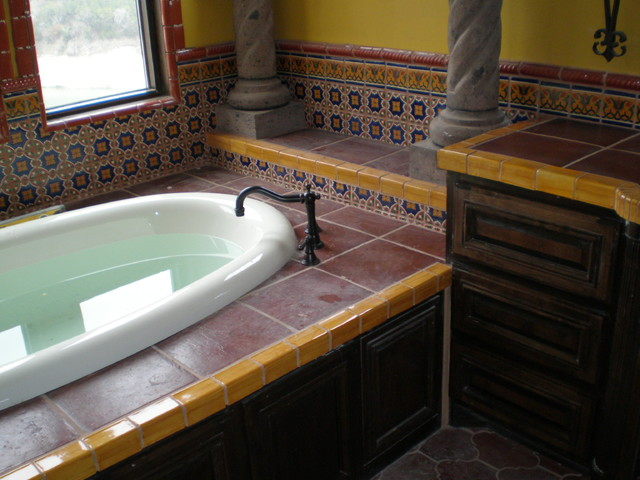 cabinets for bathrooms mexican tile mediterranean bathroom by clay 12234