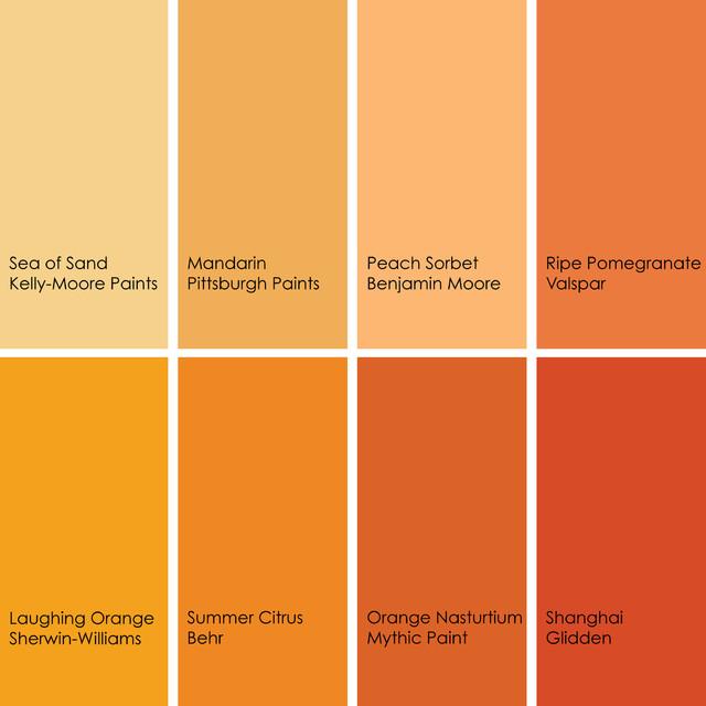 Image Gallery Orange Color Names