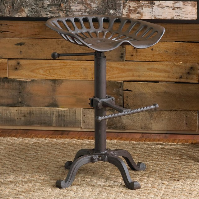 Trying To Find 3 X Old Style Steel Or Wrought Cast Iron Bar Stools The Ones With Tractor Seat Like So