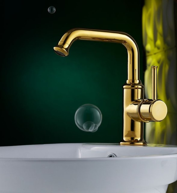 upscale bathroom fixtures luxury polished brass bathroom faucet with single handle 14892
